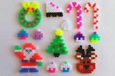 perler christmas ornaments in transparent colours