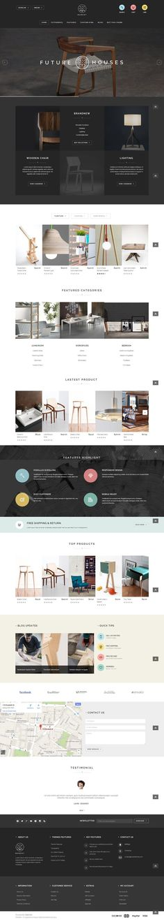 Web Design / furniture, minimal, minimalist, clean, website, dark