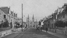 Tour Scotland Photographs: Old Photograph St Peters Road Buckie Scotland
