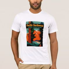 Pacific Northwest T-Shirt - tap, personalize, buy right now! Pacific Northwest, North West, Fitness Models, Unisex, Casual, Canadian Rockies, Sleeves, Mens Tops, Cotton