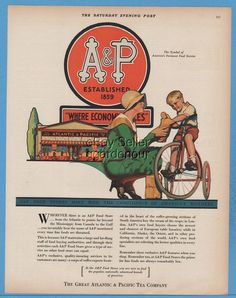 1929 Great Atlantic & Pacific Tea Co A&P Grocery Store Bradshaw Crandell…