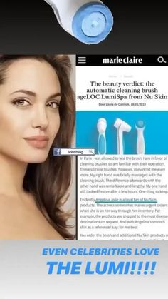 Celebrities even love it! Nu Skin Ageloc, Celebrity News, Celebrity Style, Brush Cleaner, Take Care Of Yourself, Glowing Skin, Skin Care Tips, Your Skin, Massage