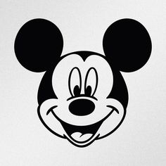 The Mickey Mouse Head Design Wall Art Sticker Vinyl Decal - Girls Boys Kids Bedroom School House Wall Vinyl Sticker Decor Peel and Stick Minnie Mouse, Phone Decals, Vinyl Decals, Auto Tattoo, Mouse Silhouette, Classic Mickey Mouse, Wall Painting Decor, Wall Art Designs, Easy Drawings