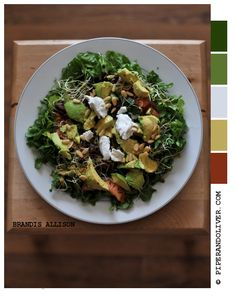 piperandoliver.com - acocado and goat cheese salad. delish!