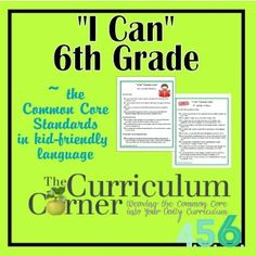 "This site has all the ""I Can"" statements for many grades. FREE! For teachers - By teachers."
