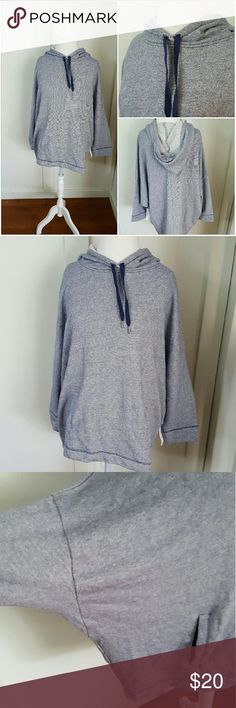 OLD NAVY MEDIUM TALL BATWING HOODIE SWEATSHIRT New with tags Old Navy medium tall blue and gray striped batwing hoodie sweatshirt. Pockets in the front. 3/4 length batwing sleeves. 100% Cotton Old Navy Tops Sweatshirts & Hoodies