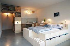 chambre de design intéressant avec lit estrade
