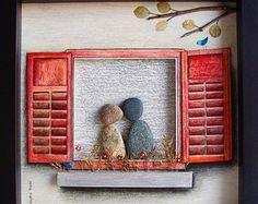 Un galet de verre Art cadeau de mariage mariage par MedhaRode