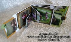 envelope pull-out tab album - uses large and small square envelopes, CDs will also fit into the large envelopes