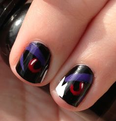 Miscellaneous Manicures: Baltimore Ravens Nails - Playoffs Week 2 - Ravens Eyes
