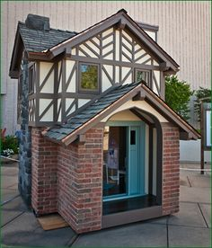 The first time I saw these playhouses at the Stanford Mall (I believe it was 2005 or so), I was amazed. They're auctioned off for charity. Make this playhouse just a little bigger (say, 99 sq ft) and it would be my perfect backyard writer's retreat.