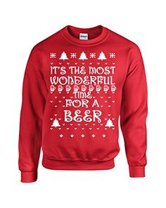 Jacted Up Tees It's the Most Wonderful Time for Beer Ugly Sweater Crew Sweatshirt - XL Red (541) Jacted Up Tees http://www.amazon.com/dp/B00PM3LM5W/ref=cm_sw_r_pi_dp_Fa9Hub162XPDS
