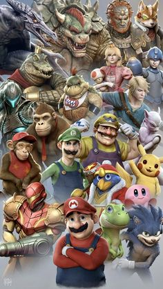 Life-like Super Smash Bros. fighters are freaky yet awesome: Life-like Super Smash Bros. fighters are freaky yet awesome: Super Smash Bros Characters, Super Smash Bros Memes, Nintendo Super Smash Bros, Geeks, Yoshi, Samus, Arte Cholo, Fanart Manga, Super Mario Art