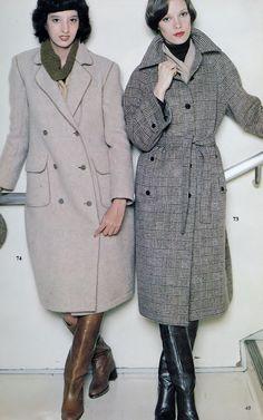 70s Fashion, Ladies Fashion, Fashion Boots, Fashion Dresses, Vintage Fashion, Womens Fashion, Vintage Boots, Looks Vintage, Coats For Women