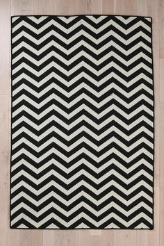 Flat Weave Chevron Rug  #UrbanOutfitters