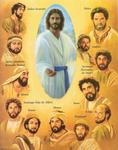 Jesus Christ and his 12 disciples. Jesus Christ Images, Jesus Art, Bible Pictures, Jesus Pictures, Religion, Spiritual Images, Jesus Painting, Biblical Art, Bible Knowledge