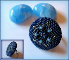 Beaded Rings, Beaded Jewelry, Handmade Jewelry, Earring Tutorial, Peyote Stitch, Mandala Design, Personalized Jewelry, Beading Patterns, Seed Beads