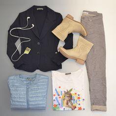 t-shirt #lolie pantalone #bassa giacca #colori piumino #argento