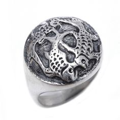 Sterling silver ring with engraved detail koi fish