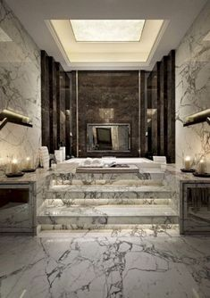 bookmatched marble floors cool interiors in 2019 bathroom rh pinterest com