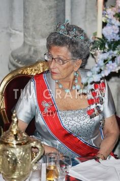 The turquoise tiara, originally from Queen Alexandra of Great Britain