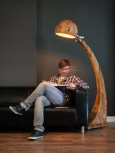 wooden floor lamp Woobia