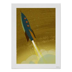 Rocket Blast Off Posters