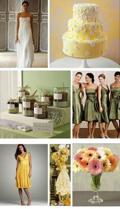 wedding - yellow and green