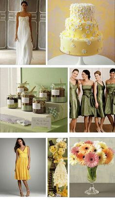 wedding - yellow and green