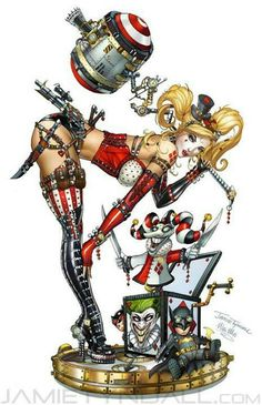 Artist rendering of Batman villain and Joker sidekick, Harley Quinn Dc Comics, Manga Comics, Comics Girls, Catwoman, Batgirl, Harley Quinn Et Le Joker, Harley Queen, Bd Art, Nananana Batman
