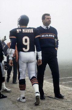 Jim McMahon  amp  Head Coach Mike Ditka. Chicago Bears. 80 s. Bears Football 5b746605e