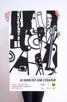 Excited to share the latest addition to my #etsy shop: Fernand Leger, Black is the Colour, Foundation Maeght, 2006, Jazz poster. Original Exhibition poster. etsy.me/2E3TzDW #art #print #lithograph #fernandleger #vintageposter #jazzposters #contemporary #cibist