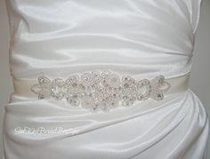 ANNA Crystal Bridal SashBeaded Rhinestone by SunKissBridal on Etsy, $35.00