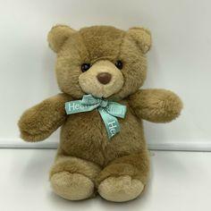 "Healthtex Brown Teddy Bear Plush Soft Toy Stuffed Vintage 11"" Animal #Healthtex"
