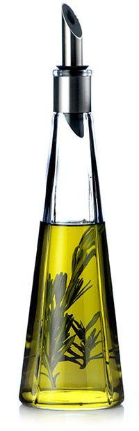 Grand Cru Set Carafe & Oil Pourer from Rosendahl Carafe, Olives, Olive Oil Packaging, Olive Oil And Vinegar, Kitchen Necessities, Green Glass Bottles, Kitchenware, Tableware, Olive Oil Bottles