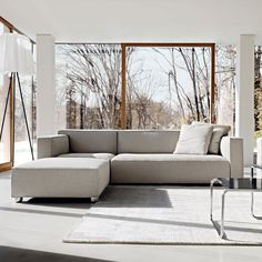 HAUS - Barber Osgerby Asymmetric Sofa by Edward Barber and Jay Osgerby
