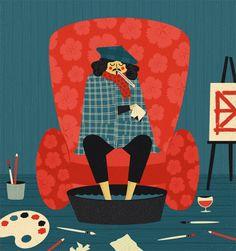 Área Visual - Blog de Arte y Diseño: Las ilustraciones de Dawid Ryski