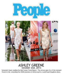 Ashley Greene wearing HoughtonNYC to CBGB premier