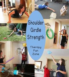 The shoulder girdle is very important in the functioning of the arms and the hands.  In order to use your hands efficiently, you need to have strong, stable shoulders for your arms to work off of.  Kids need to be able to easily reach up against gravity and to reach out for objects.  It is …
