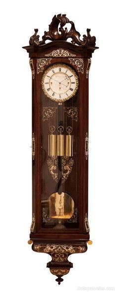 Antiques Atlas - Wenzel Schonberger 8 Day Wall Clock