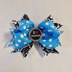 #bjsbowbows #bow #hairbow #ilovedance #lovetodance #dancer #polkadots #bottlecap #handmade