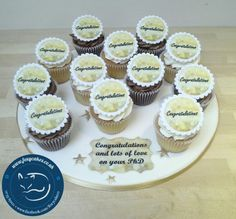 Congratulations cupcakeboard,  made by The Foxy Cake Company!