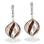 Spherical wood earrings...