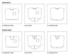 LOU BOX TOP PDF PATTERN - Scoop neck A (in a woven?) with a jersey slightly gathered skirt