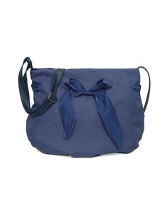 Cute little blue sling with bow from Baggit.