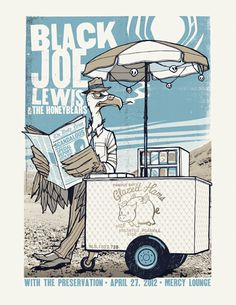 Black Joe Lewis poster for show in Nashvilee, TN