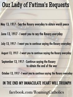 Our Lady of Fatima's Requests