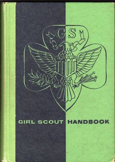 Girl Scout Handbook 1953 1954  Intermediate Green Black Scouting Manual
