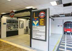 Artist Camilla Barnard has created a wooden and hand-painted replica of a London Underground station inside the former campus of art school Central St Martins.