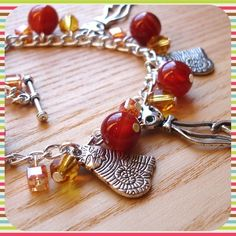 Golden Kitties Charm Bracelet